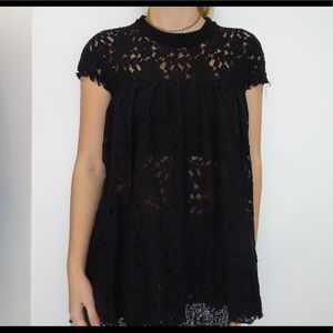 Black short sleeve urban outfitters top